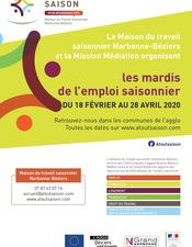 LES MARDIS DE L'EMPLOI SAISONNIER